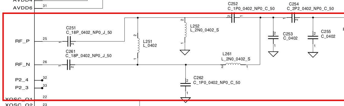 cc2533差分信号转单端时,巴伦电路的取值l,c(ti官网)为什么这么取值lc